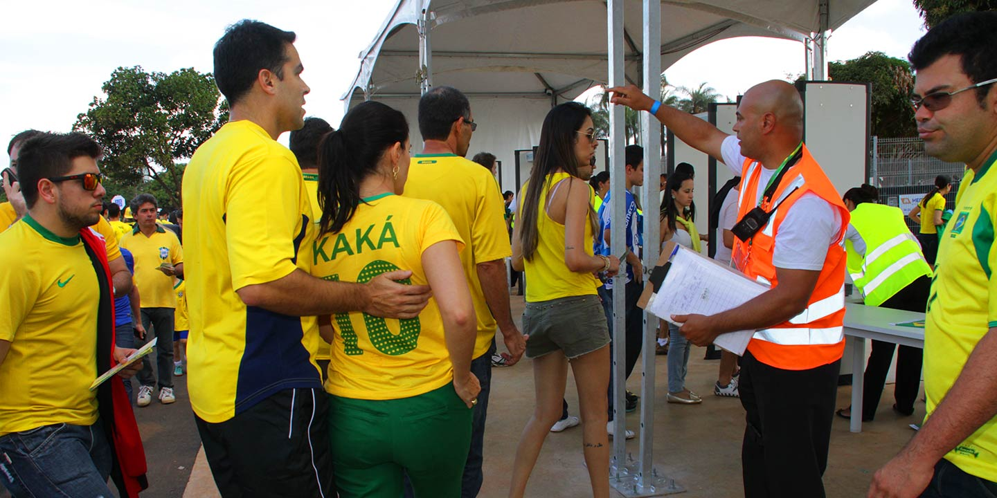picture showing In 2013 Sword Security provided professional crowd management services & sporting event security at the Confederations Cup in Brasilia, Brazil.
